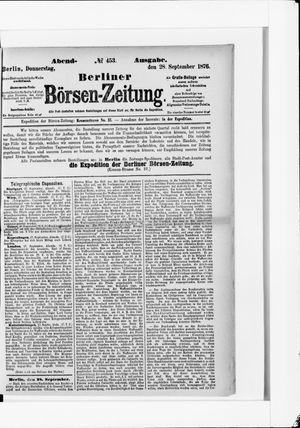 Berliner Börsen-Zeitung vom 28.09.1876
