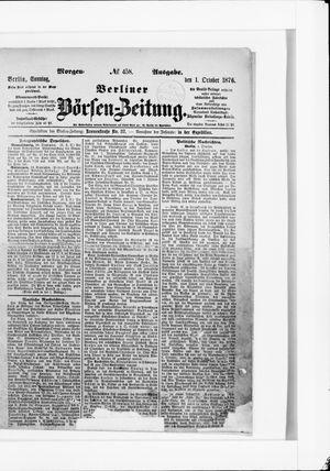 Berliner Börsen-Zeitung vom 01.10.1876