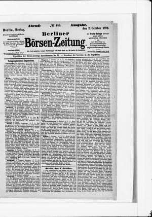 Berliner Börsen-Zeitung vom 02.10.1876