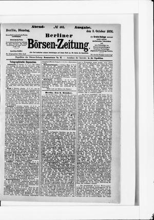 Berliner Börsen-Zeitung vom 03.10.1876