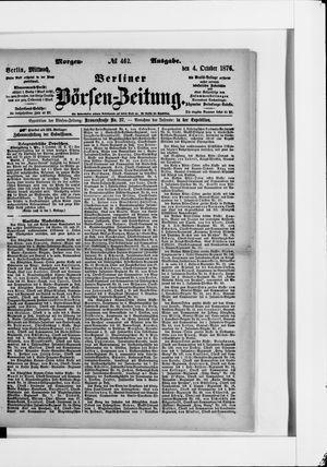 Berliner Börsen-Zeitung vom 04.10.1876
