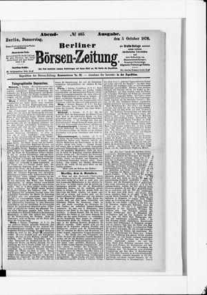 Berliner Börsen-Zeitung vom 05.10.1876