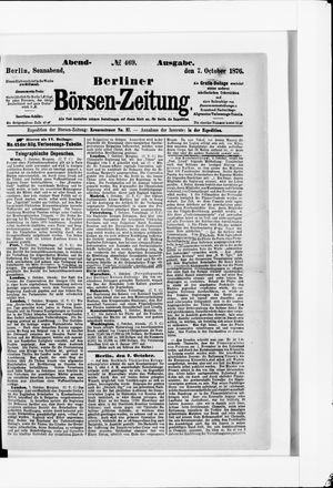 Berliner Börsen-Zeitung vom 07.10.1876