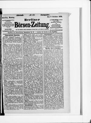 Berliner Börsen-Zeitung vom 09.10.1876