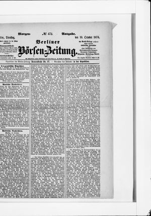 Berliner Börsen-Zeitung vom 10.10.1876