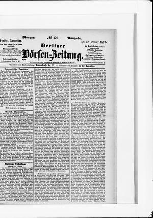 Berliner Börsen-Zeitung vom 12.10.1876