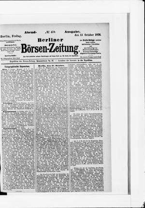 Berliner Börsen-Zeitung vom 13.10.1876