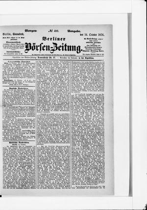 Berliner Börsen-Zeitung vom 14.10.1876