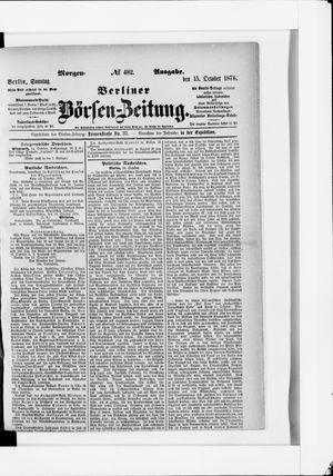 Berliner Börsen-Zeitung vom 15.10.1876
