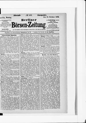 Berliner Börsen-Zeitung vom 16.10.1876