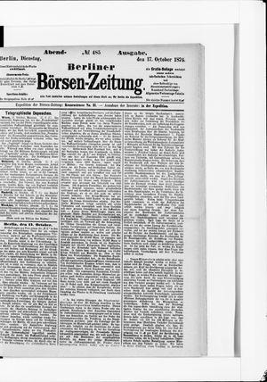 Berliner Börsen-Zeitung vom 17.10.1876