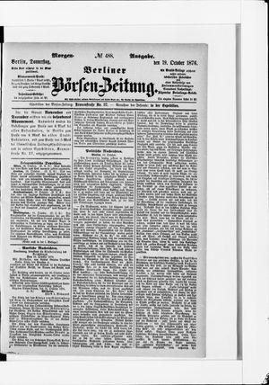 Berliner Börsen-Zeitung vom 19.10.1876