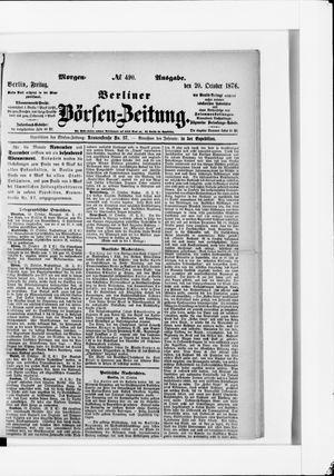 Berliner Börsen-Zeitung vom 20.10.1876