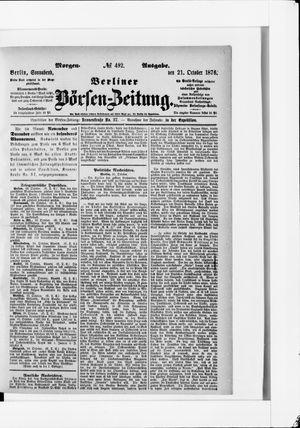 Berliner Börsen-Zeitung vom 21.10.1876