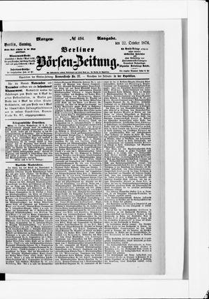 Berliner Börsen-Zeitung vom 22.10.1876