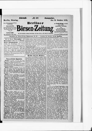 Berliner Börsen-Zeitung vom 24.10.1876