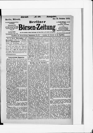 Berliner Börsen-Zeitung vom 25.10.1876