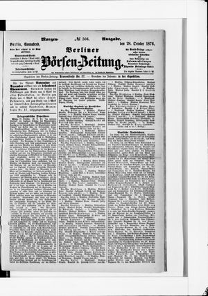 Berliner Börsen-Zeitung vom 28.10.1876