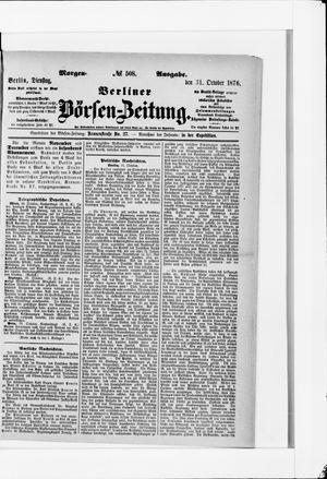 Berliner Börsen-Zeitung vom 31.10.1876
