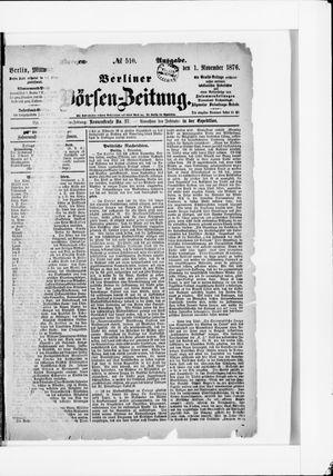 Berliner Börsen-Zeitung vom 01.11.1876