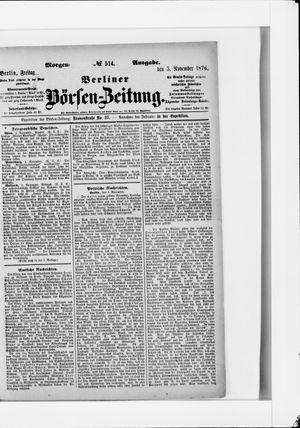 Berliner Börsen-Zeitung vom 03.11.1876