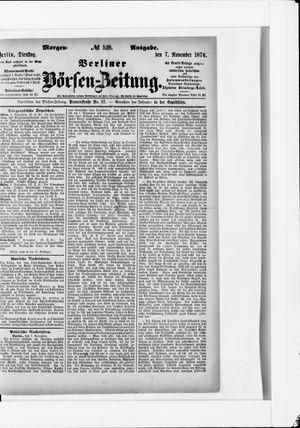Berliner Börsen-Zeitung vom 07.11.1876