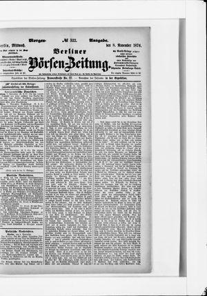 Berliner Börsen-Zeitung vom 08.11.1876