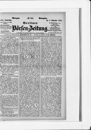 Berliner Börsen-Zeitung vom 09.11.1876