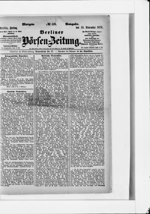 Berliner Börsen-Zeitung vom 10.11.1876