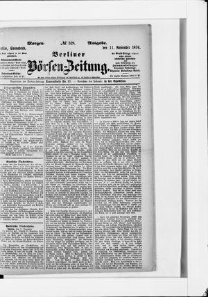 Berliner Börsen-Zeitung vom 11.11.1876