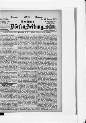 Berliner Börsen-Zeitung vom 14.11.1876