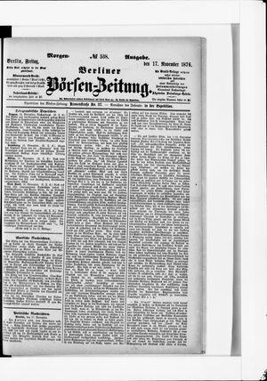 Berliner Börsen-Zeitung vom 17.11.1876