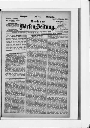 Berliner Börsen-Zeitung vom 21.11.1876