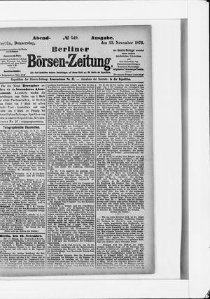 Berliner Börsen-Zeitung vom 23.11.1876