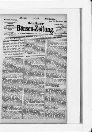Berliner Börsen-Zeitung vom 24.11.1876