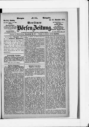 Berliner Börsen-Zeitung vom 26.11.1876