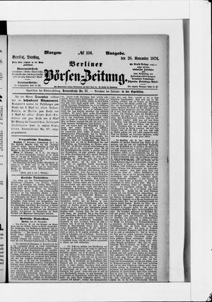 Berliner Börsen-Zeitung vom 28.11.1876