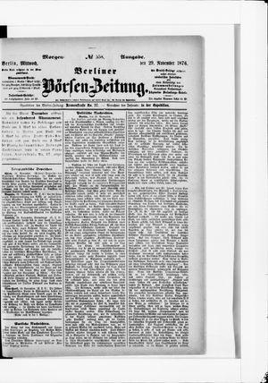 Berliner Börsen-Zeitung vom 29.11.1876