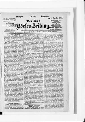 Berliner Börsen-Zeitung vom 02.12.1876