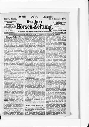 Berliner Börsen-Zeitung vom 04.12.1876