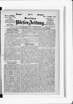 Berliner Börsen-Zeitung vom 06.12.1876