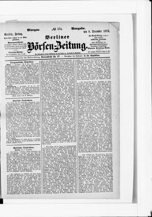 Berliner Börsen-Zeitung vom 08.12.1876