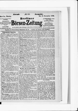 Berliner Börsen-Zeitung vom 11.12.1876