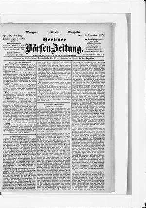 Berliner Börsen-Zeitung vom 12.12.1876