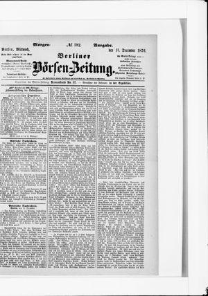 Berliner Börsen-Zeitung vom 13.12.1876