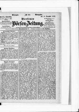 Berliner Börsen-Zeitung vom 14.12.1876