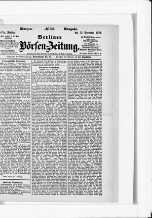Berliner Börsen-Zeitung vom 15.12.1876