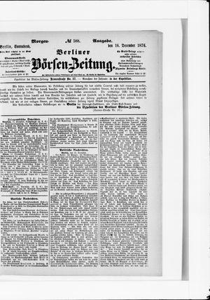 Berliner Börsen-Zeitung vom 16.12.1876