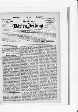 Berliner Börsen-Zeitung vom 17.12.1876