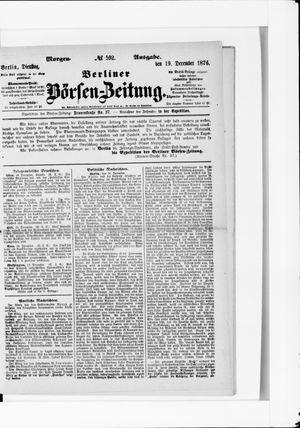 Berliner Börsen-Zeitung vom 19.12.1876